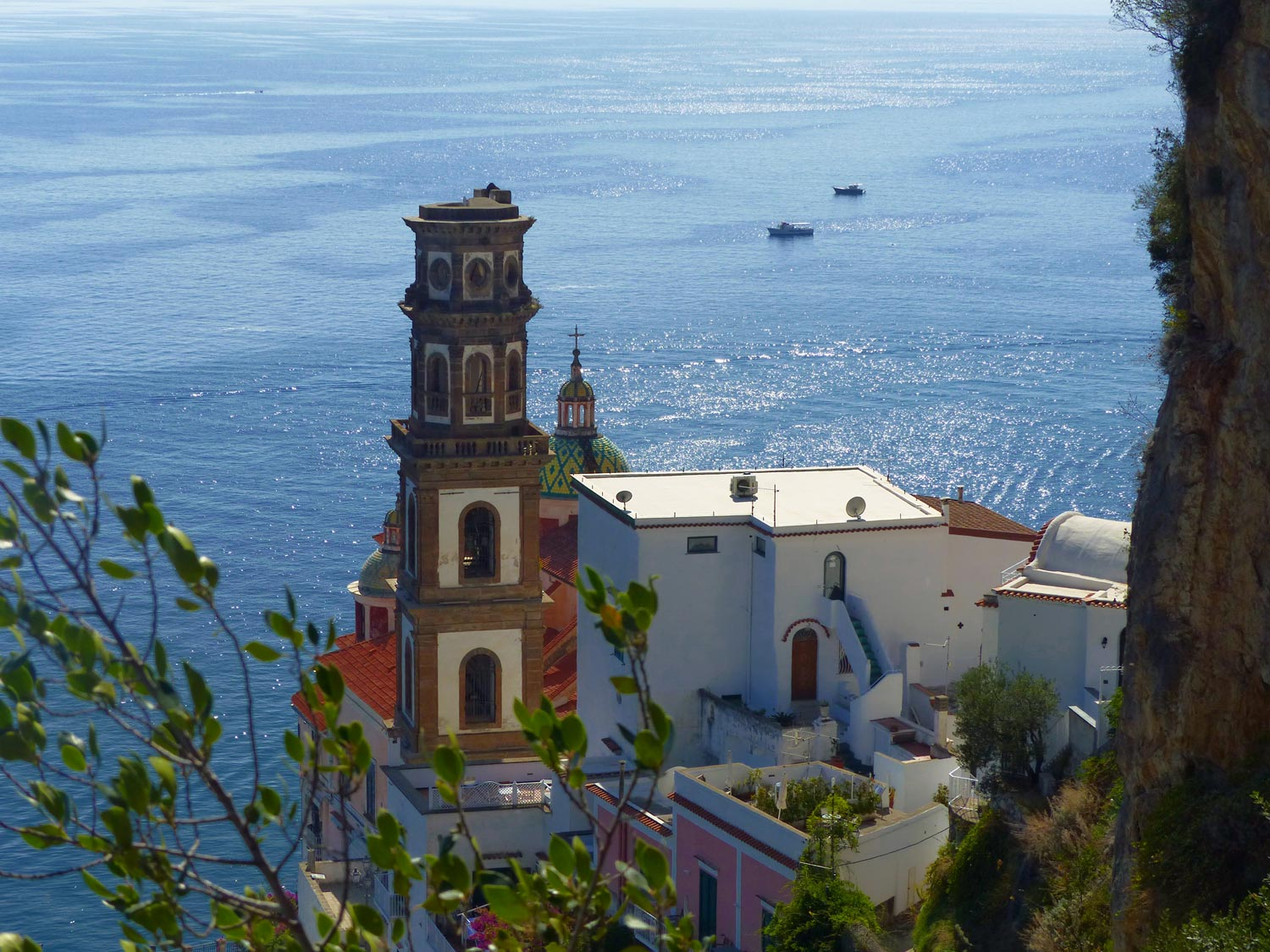 View from above at Amalfi Coast