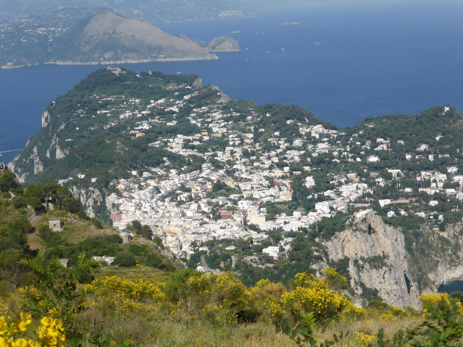 View from above Capri