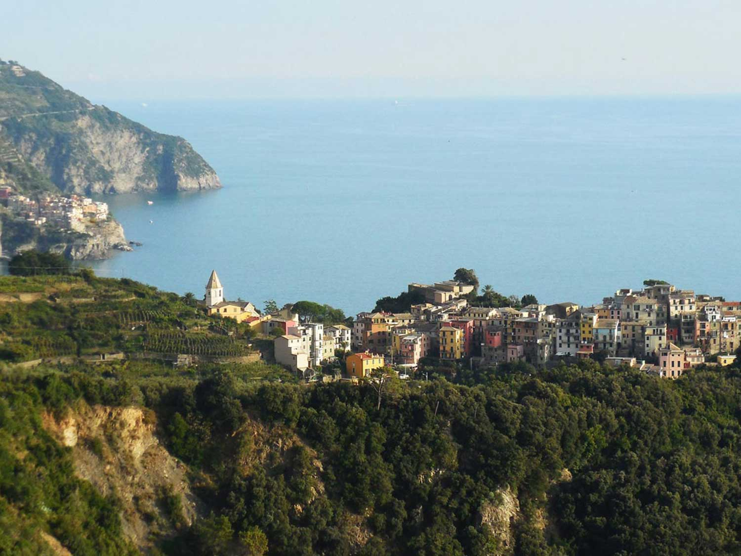 The view from Corniglia Italy