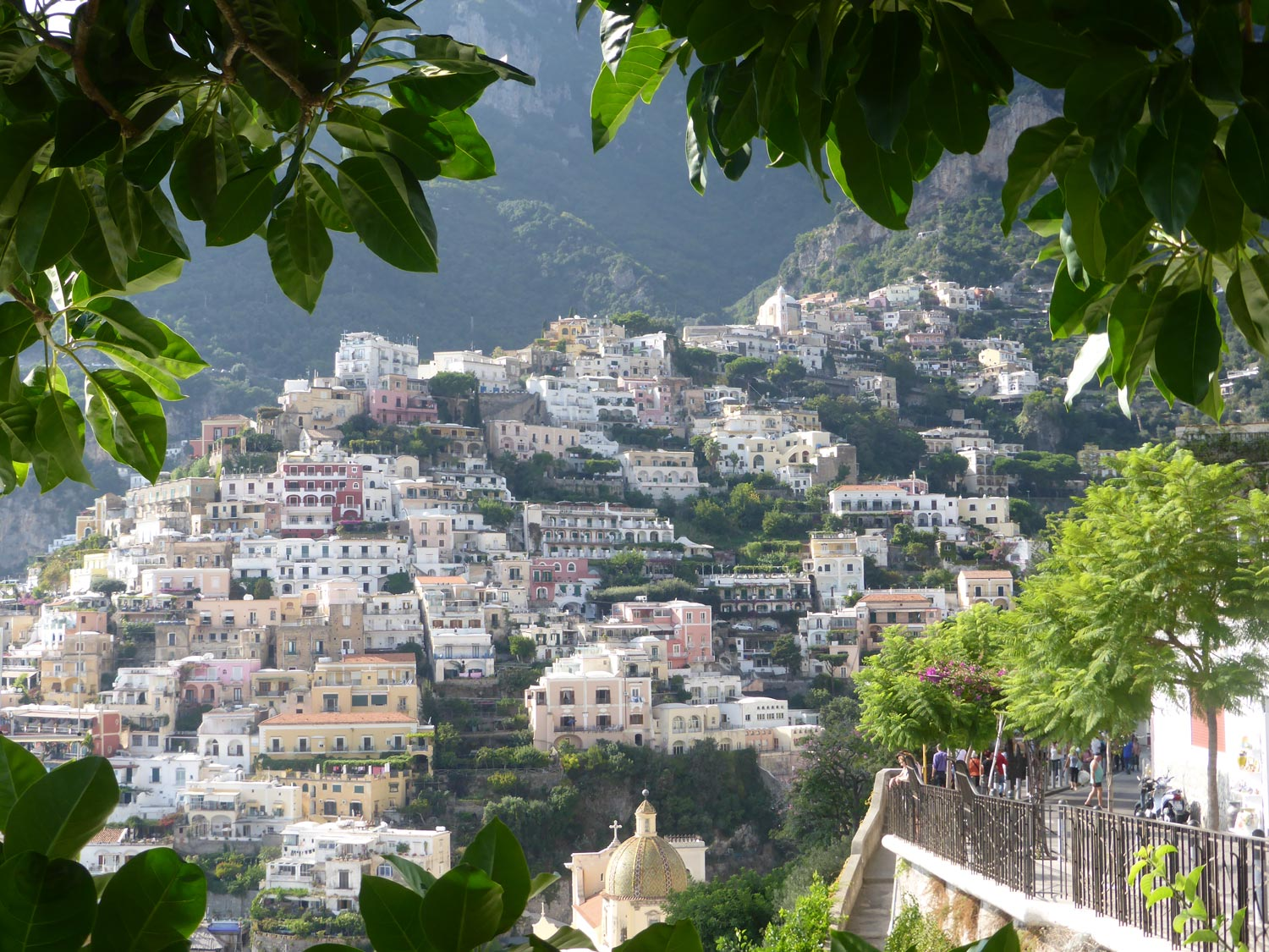 View from a walking trail in Positano