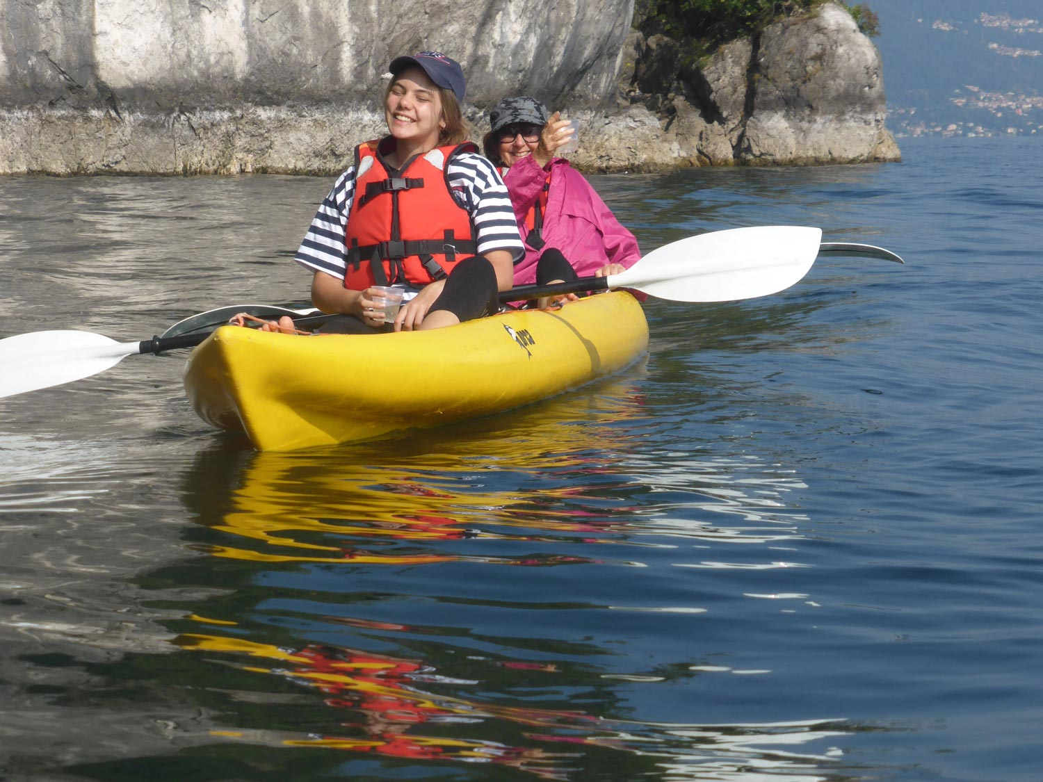 Kayaking adventure on Lake Como